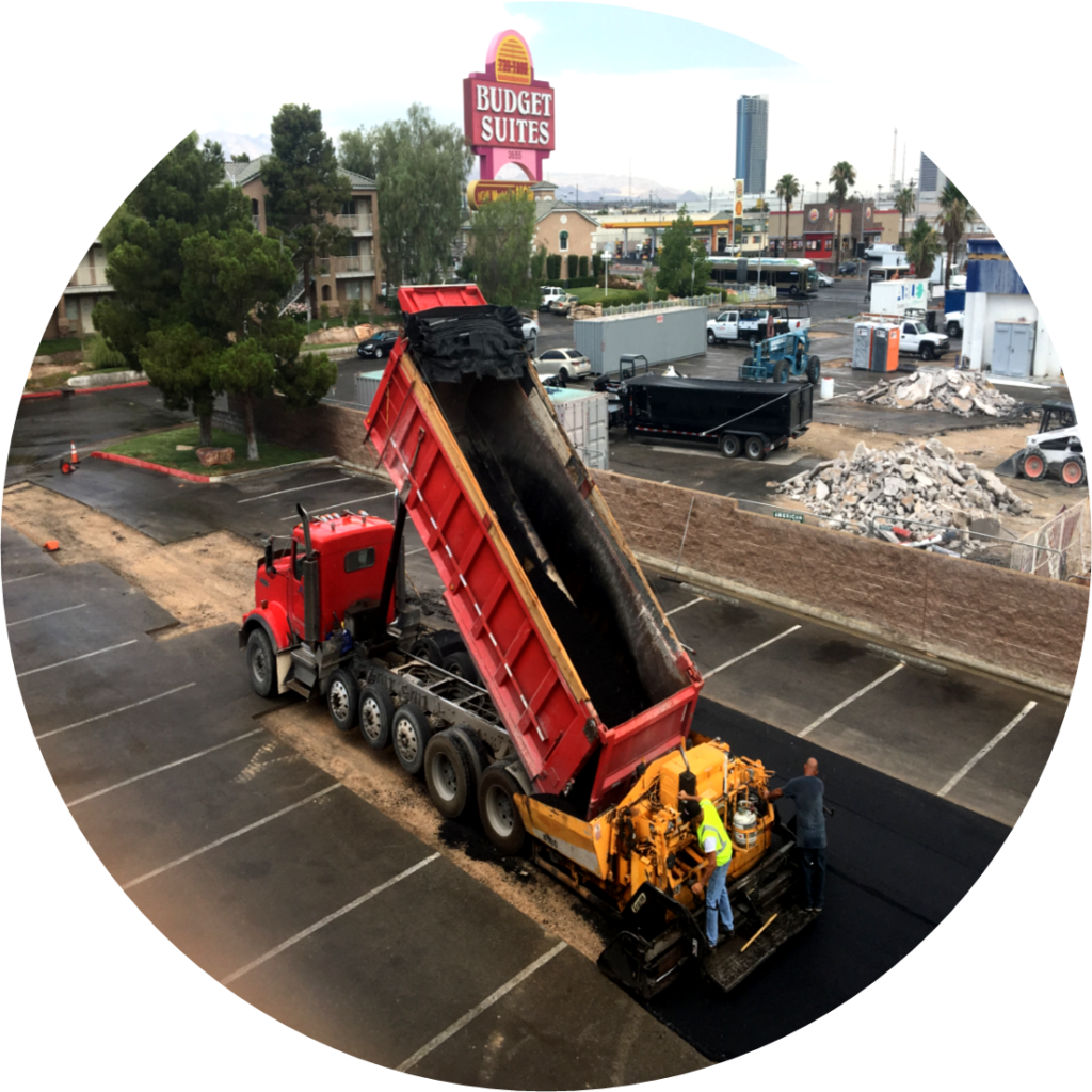 Asphalt Paving Las Vegas - Budget Suites of America - July 2017