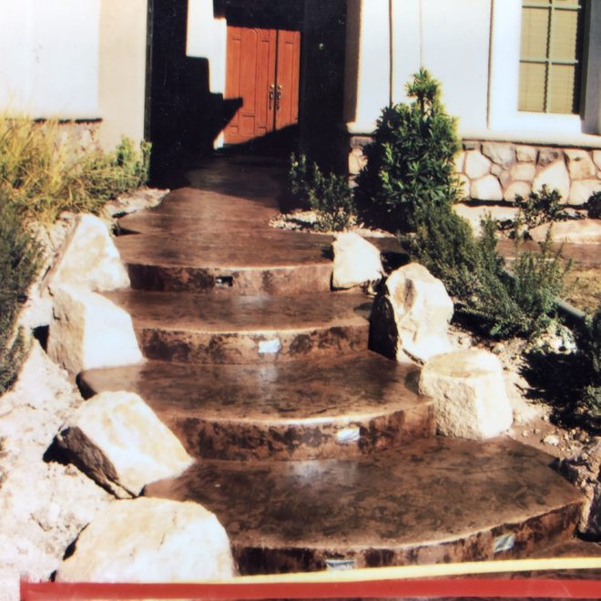 Ringed Custom Concrete Steps