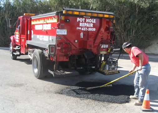 Take care of potholes, damaged, and sunken asphalt before it sinks you and your patrons.