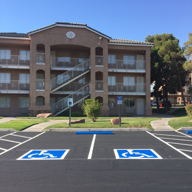Layout of Handicap Parking Spaces